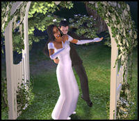 Wedding in The Sims 2