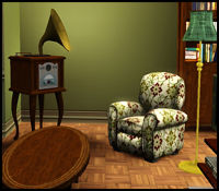 Old fashioned radio in The Sims 3