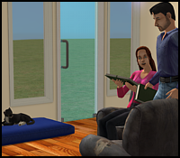 Five and Dae in The Sims 2