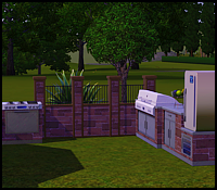 Kitchen outdoors in The Sims 3