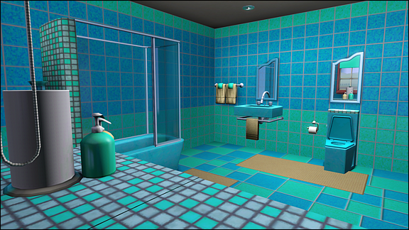Bathroom blue/green